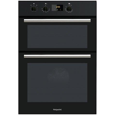 hotpoint dd2540 double oven 269 black john lewis. Black Bedroom Furniture Sets. Home Design Ideas