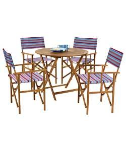 Summer Stripe Directors Chair Set Was 163 99 99 Now Only 163 39