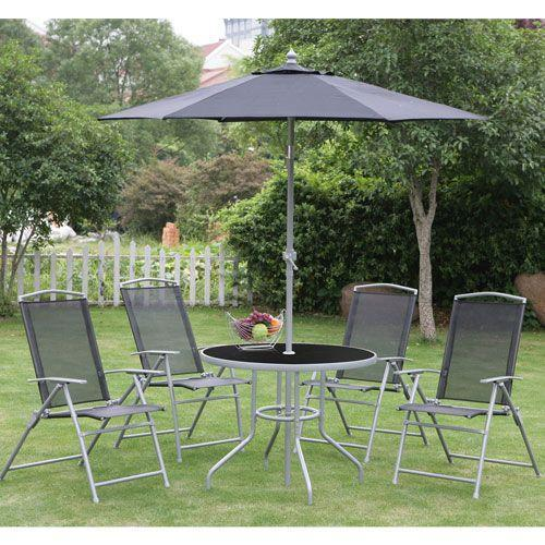 Robert dyas seville 6 piece metal garden furniture set was for Garden furniture set deals