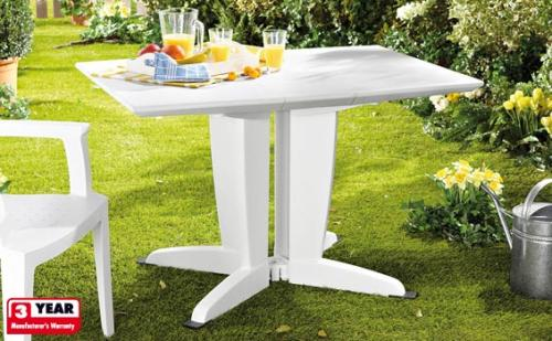 folding garden table with 3 year warranty lidl