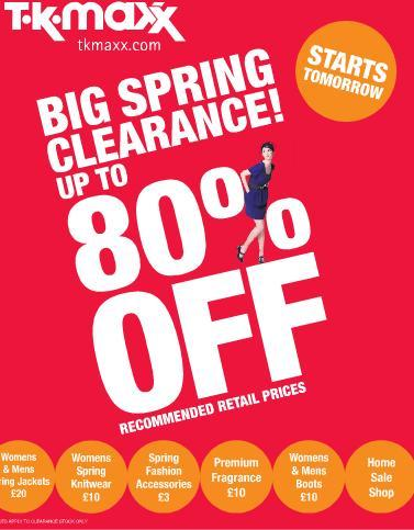 big spring clearance now on upto 80 off tk maxx. Black Bedroom Furniture Sets. Home Design Ideas