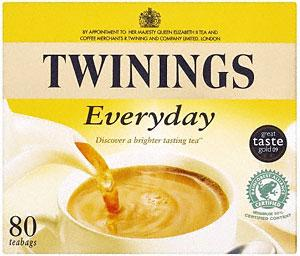 twinings everyday tea 80 tea bags 250g was now 2. Black Bedroom Furniture Sets. Home Design Ideas