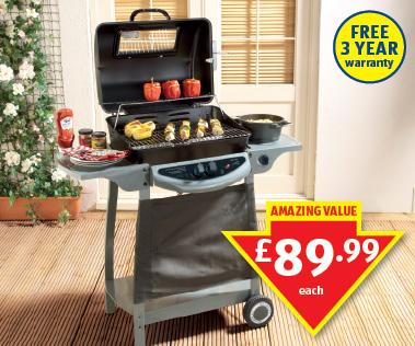dual gas bbq with side burner aldi hotukdeals. Black Bedroom Furniture Sets. Home Design Ideas