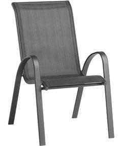 Andorra Black Garden Balcony Patio Chair Homebase In