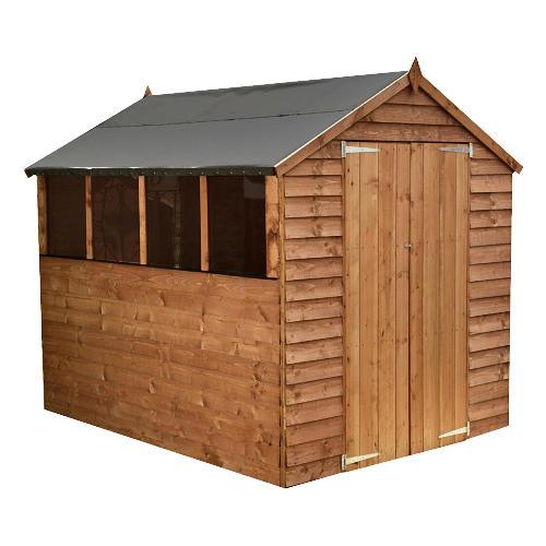 6 x 8 apex wooden garden shed 146 plus 5 delivery for Garden shed tesco