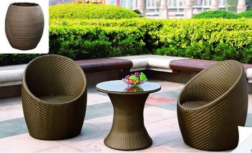 Egg rattan garden furniture set kgb delas for 199 29 for Garden furniture set deals