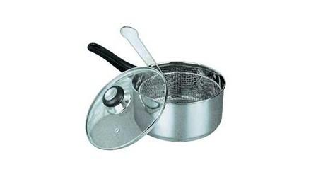 Cookworks 4 Litre Stainless Steel Chip Pan New 163 5 98