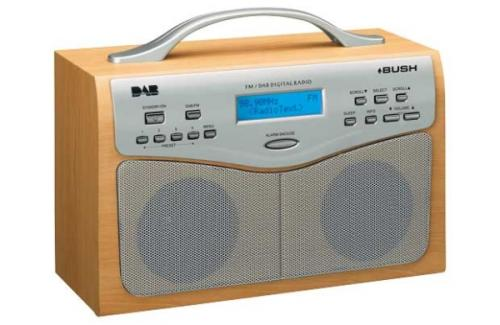 bush ne 3120 portable digital dab fm clock radio argos hotukdeals. Black Bedroom Furniture Sets. Home Design Ideas