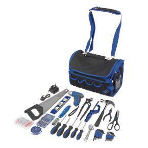 general purpose tool kit in tough open tote bag 26. Black Bedroom Furniture Sets. Home Design Ideas