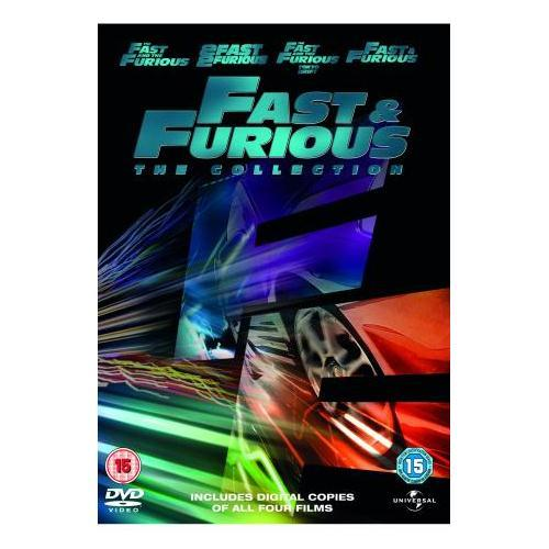 fast and the furious 1 4 box set dvd with digital copies 8 discs delivered. Black Bedroom Furniture Sets. Home Design Ideas