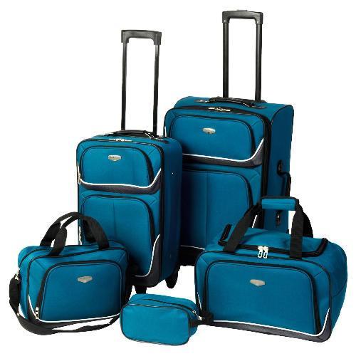 protocol 5 piece luggage set 28 in store at morrisons. Black Bedroom Furniture Sets. Home Design Ideas