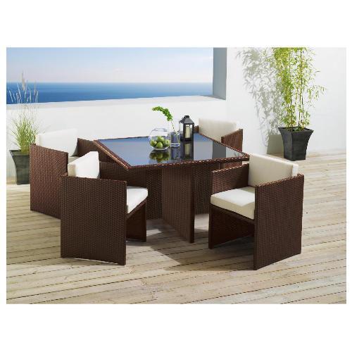 rattan cube 4 seat garden furniture tesco direct. Black Bedroom Furniture Sets. Home Design Ideas