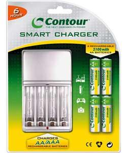 contour rechargeable batteries with charger 6hr 2100mah. Black Bedroom Furniture Sets. Home Design Ideas