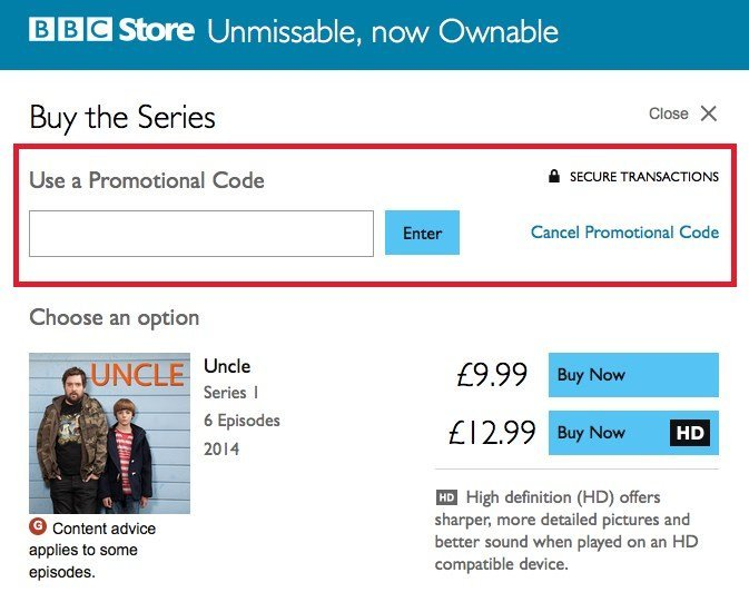 Bbc store promo code for february 2018 hotukdeals bbc store promotional code redemption fandeluxe Gallery