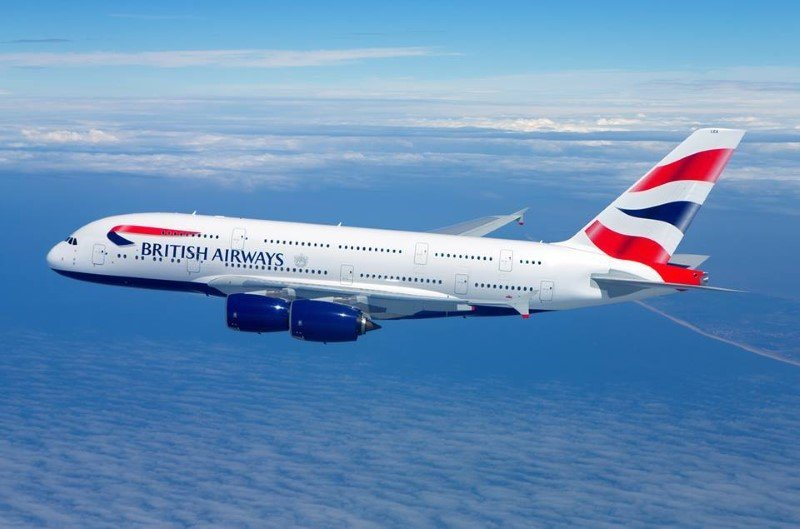 british airways airline flight