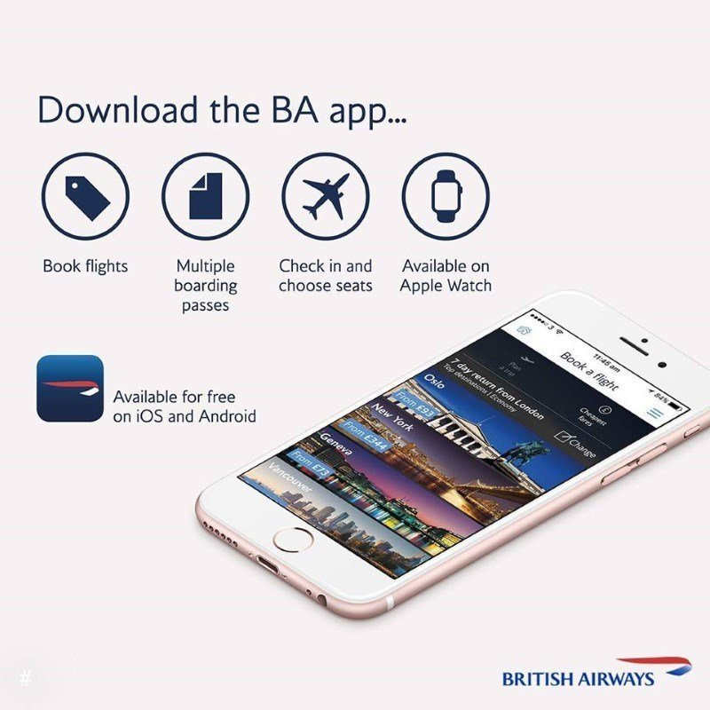 british airways app mobile