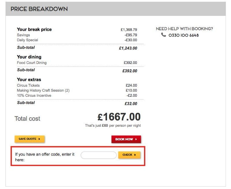 butlins discount voucher code redemption