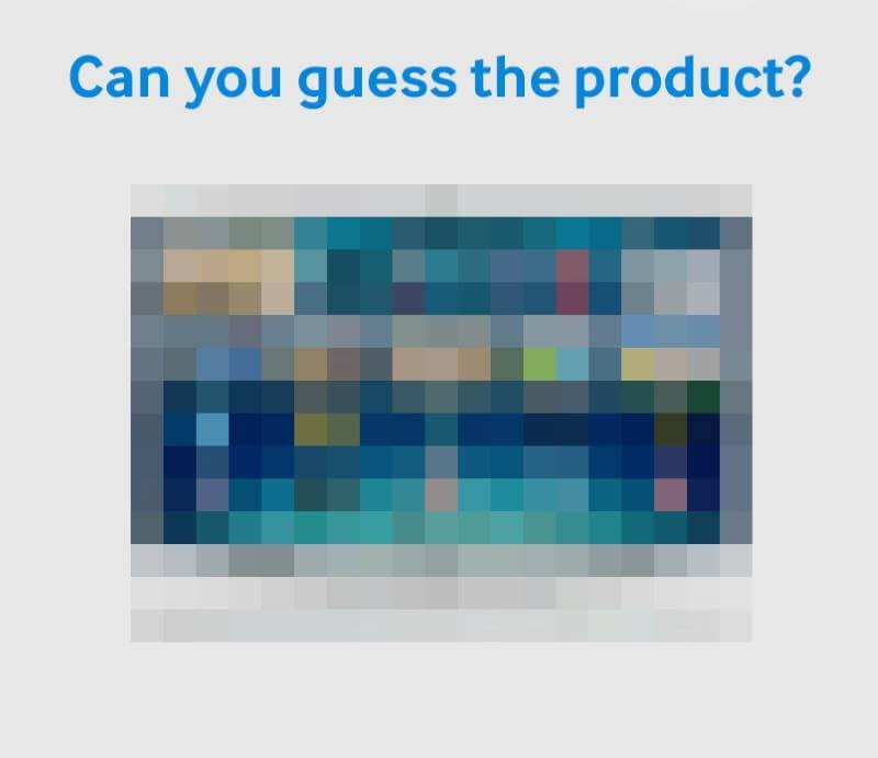 Can you guess the product?
