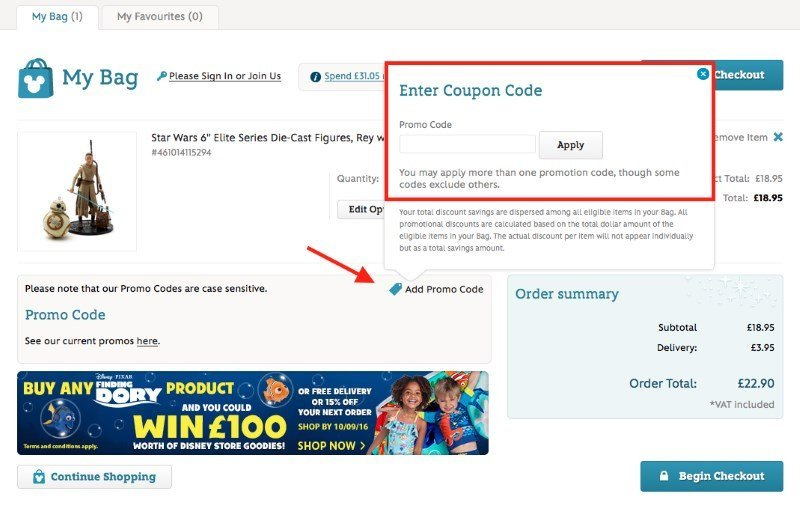 disney store uk free delivery code