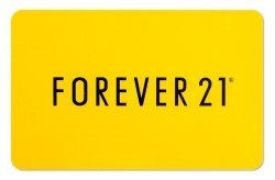 Forever 21 e-voucher and gift cards