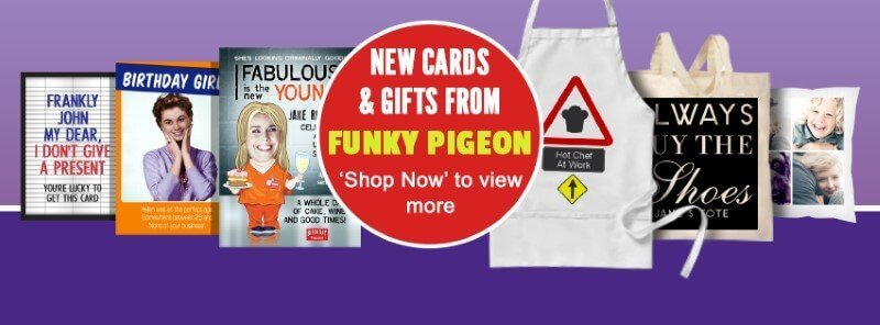 Cards and gifts at Funky Pigeon