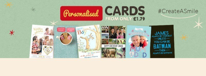 Personalised cards on funkypigeon.com