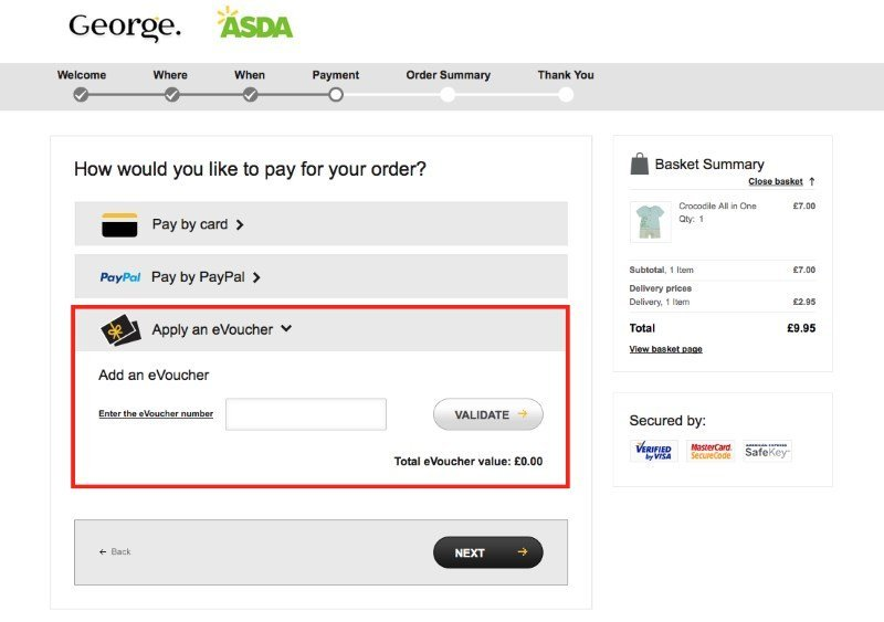 Order before 7pm and next day delivery from Asda George is yours! Asda George offers free returns to any Asda store This offer comes on top of the various promotional offers and Asda George discount codes you can shop with, all available on our overview! Why Shop with Asda George.