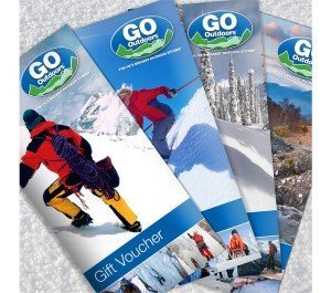 GO Outdoors gift card voucher