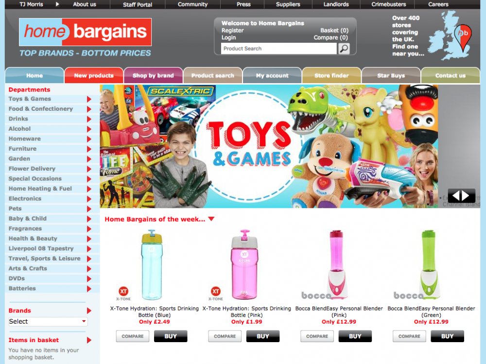 home bargains online shop