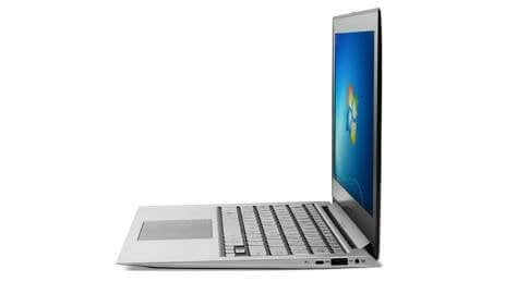 A clamshell laptop