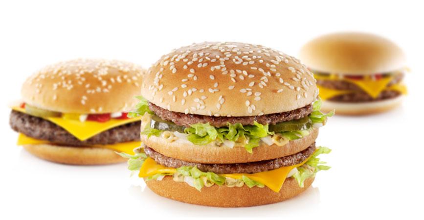 mc donalds burger beef