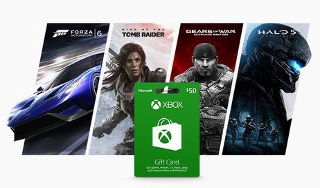 microsoft xbox gift cards