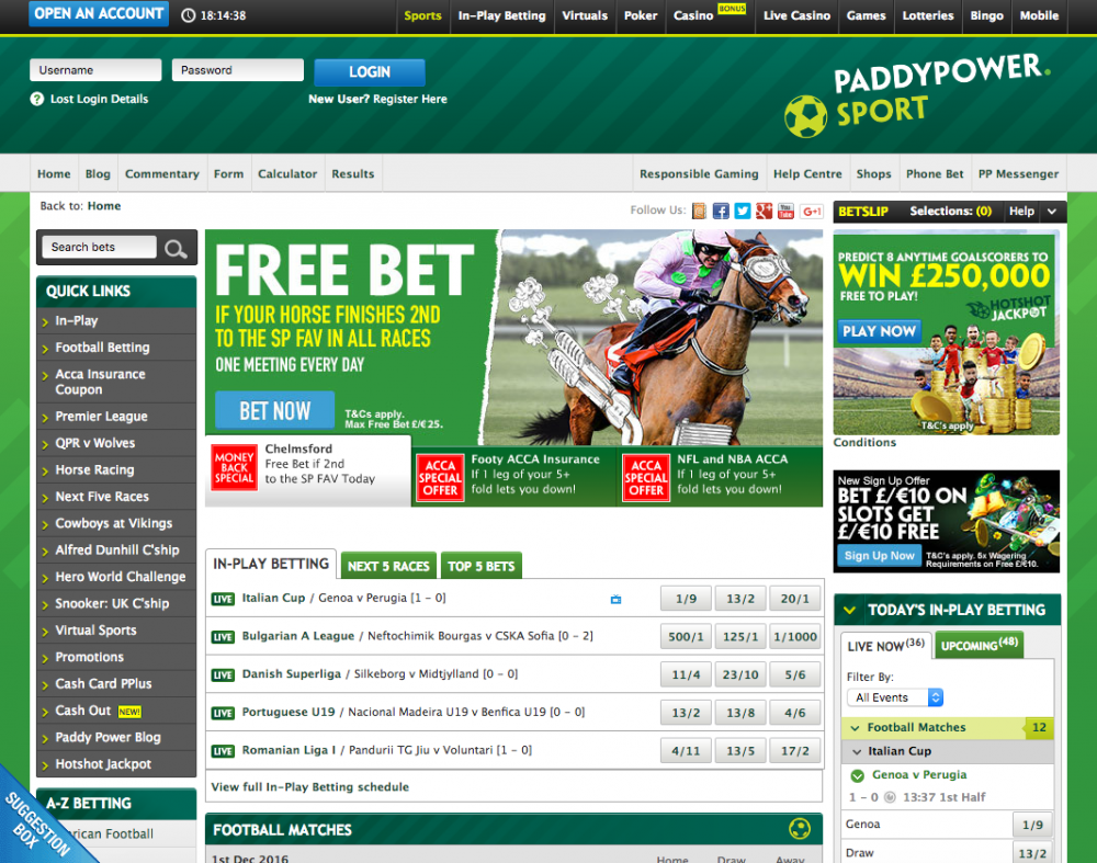 paddy power home page