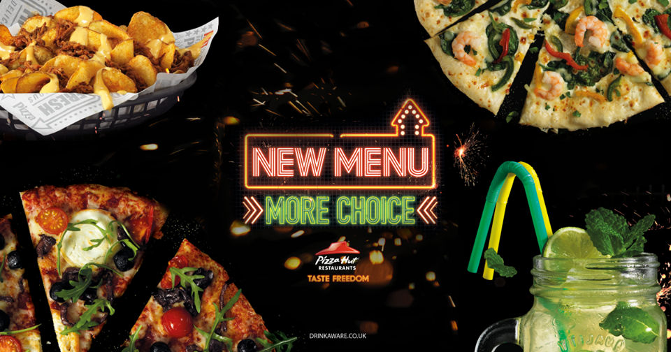 pizza hut menu more choice