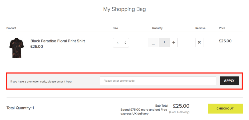 River island coupon code