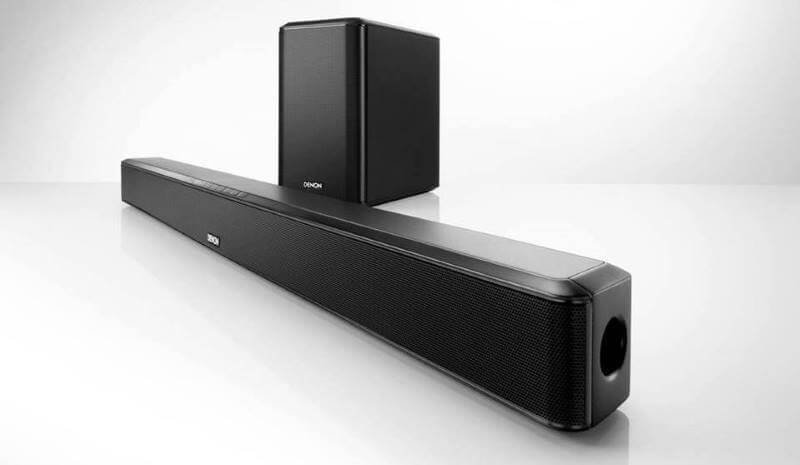 Wireless soundbar with subwoofer