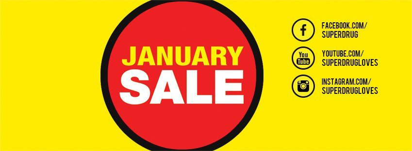 superdrug january sale