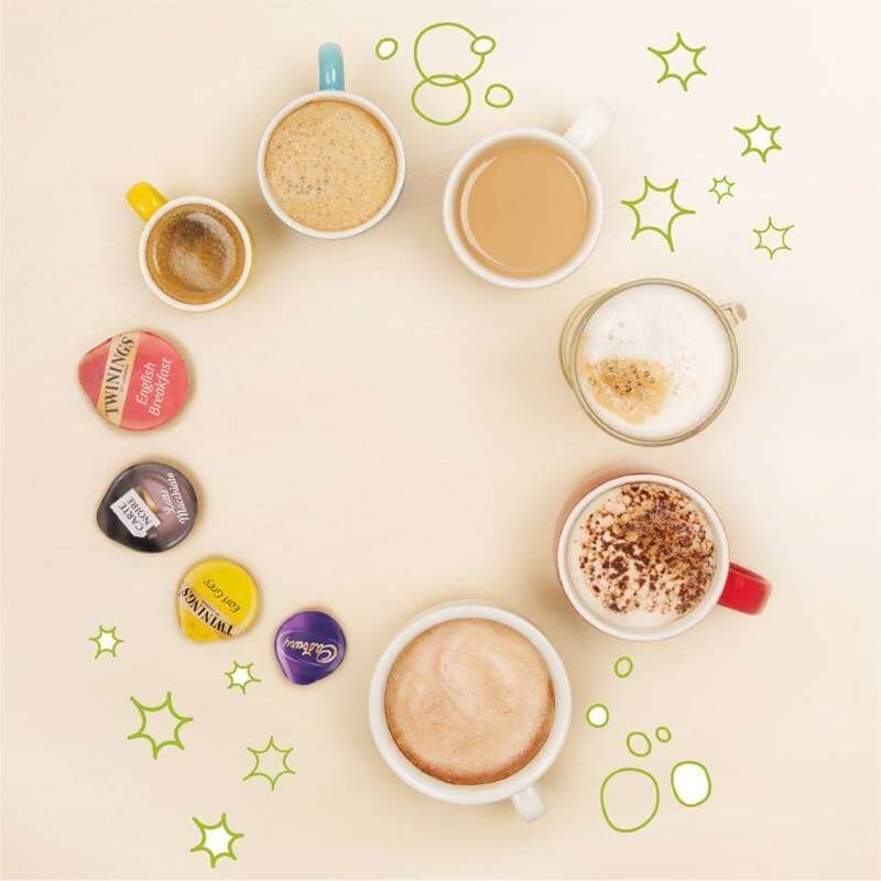 Hot drinks with t-discs