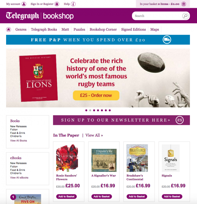 telegraph book shop
