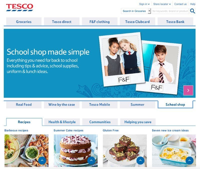 tesco online shop