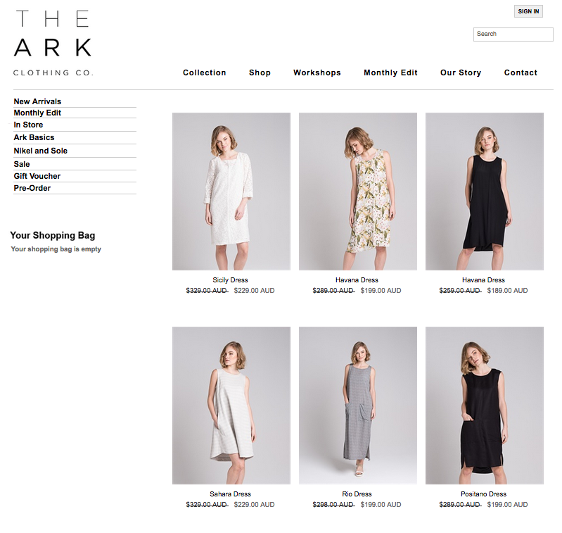 the ark clothing online shop sale