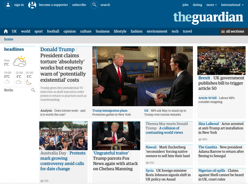 guardian website