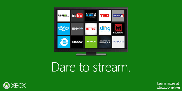 Streaming services on Xbox One