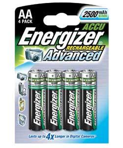 Energizer (4 pack) AA 2450 mAh Rechargeable Batteries Half