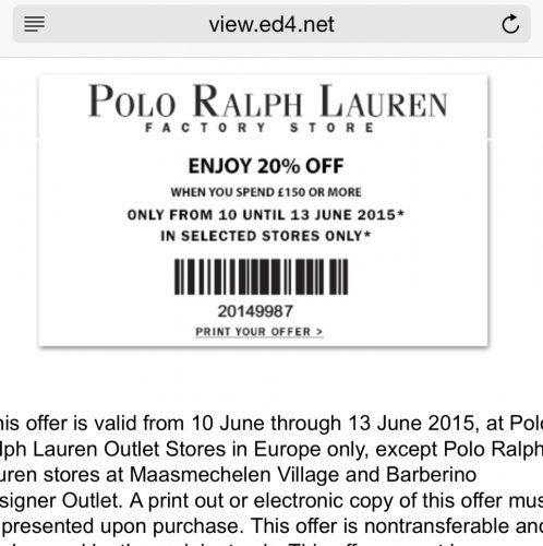 Polo discount coupon